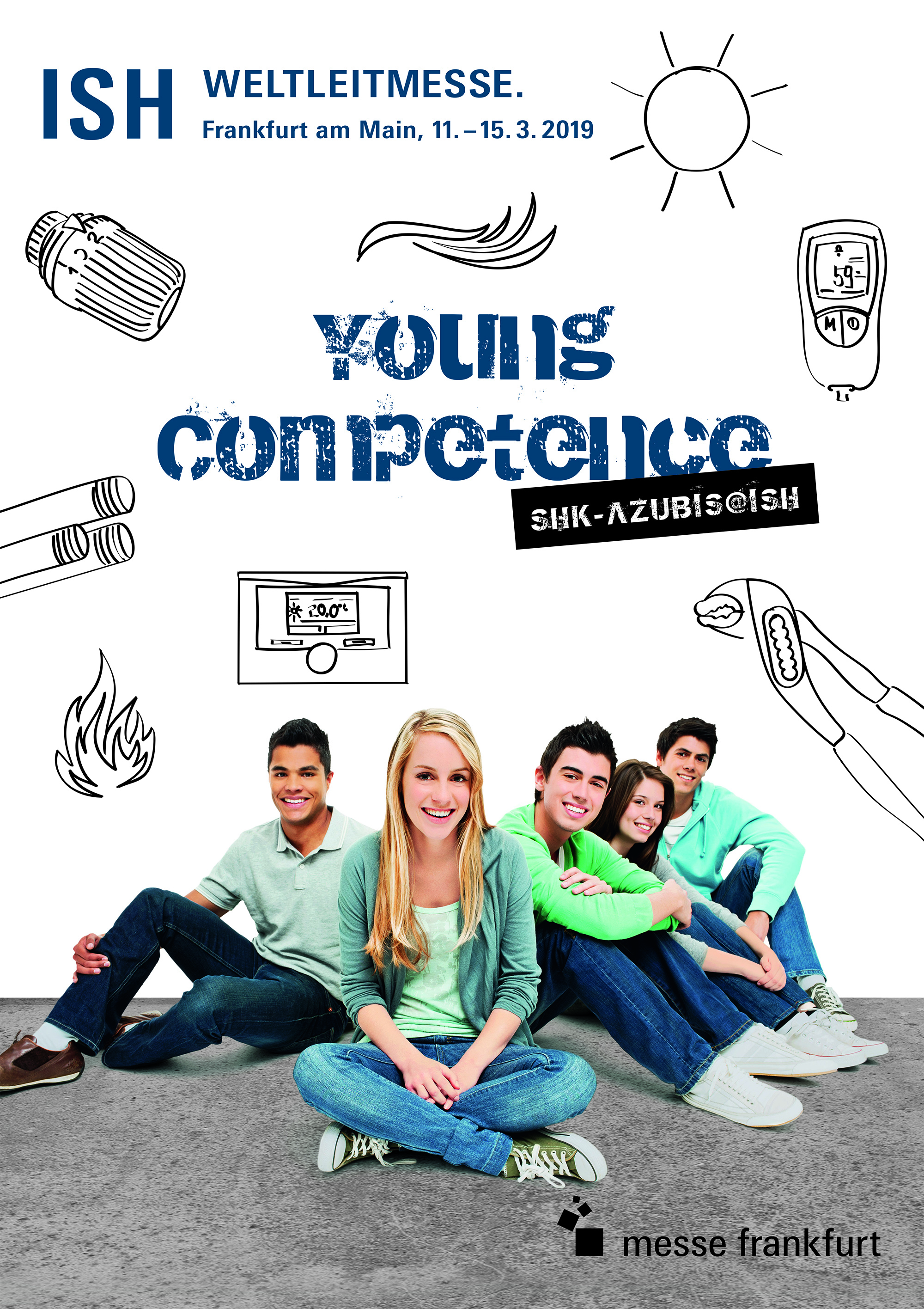 Young Competence is one of the main aspects of the programme to promote young people in the sanitation, heating and air-conditioning sector. © Messe Frankfurt Exhibition GmbH