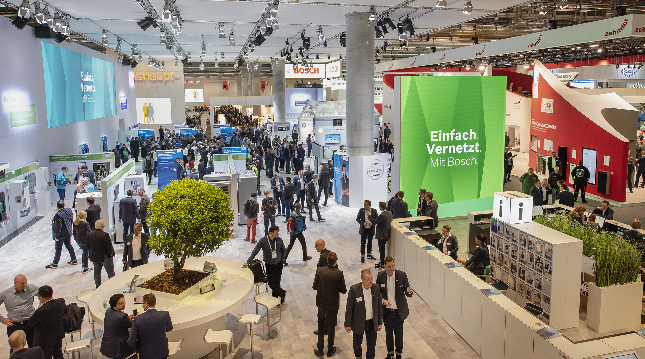 According to a representative poll, 97 percent of visitors were satisfied with the results of their time at ISH 2019. (Source: Messe Frankfurt / Petra Welzel)