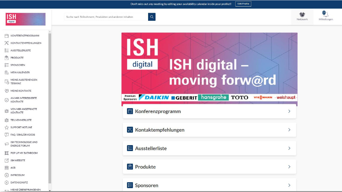 ISH digital Plattform